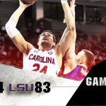 #Gamecocks WIN!!! Carolina takes 1st place in SEC with a 94-83 victory over LSU! Next Up: Kentucky, Noon Saturday https://t.co/MduWsRSqfs