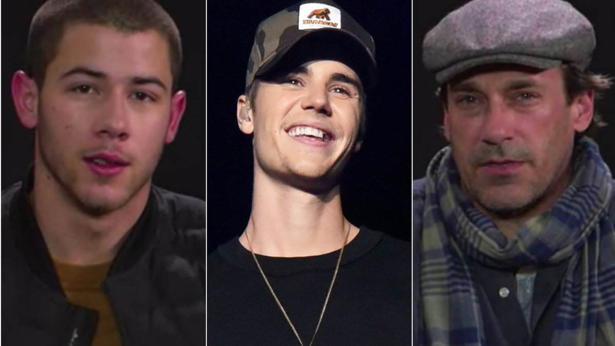 Justin Bieber's 'Sorry' Gets A Dramatic Reading From Nick Jonas, Jon Hamm, And More