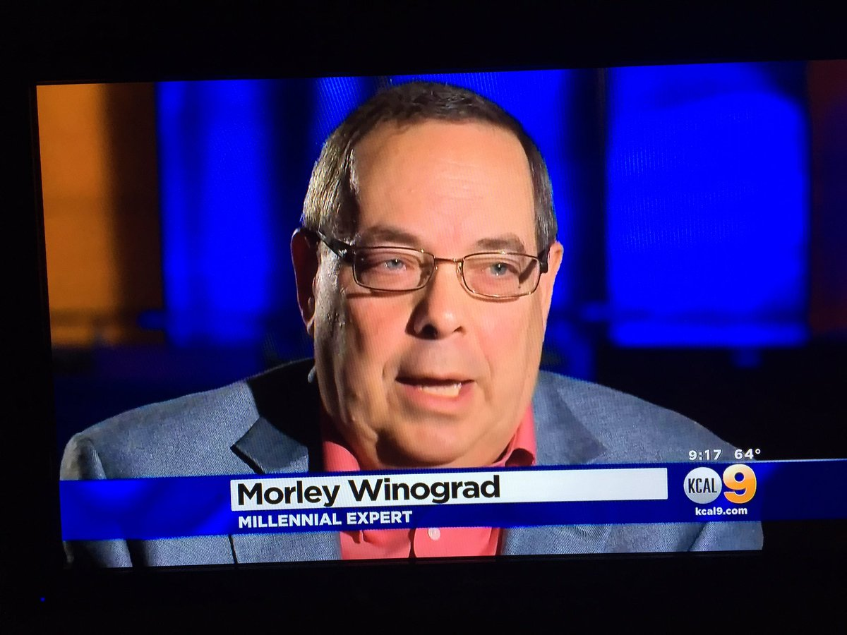 You wanna know what's up with the youth of today? You go to millennial expert Morley Winograd https://t.co/32J7XXHCqE