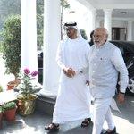 PM Shri @narendramodi receiving Crown Prince of Abu Dhabi, HH Sheikh Mohammed Bin Zayed Al Nahyan at 7 RCR,New Delhi https://t.co/3oTPBY8qNM