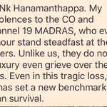 This message from an IAF officer on Lance Naik Hanamanthappa really says it best. https://t.co/9b7ro8AuJU