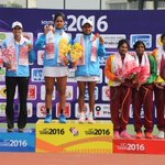India starts strong, wins Gold and Silver in Womens Doubles Tennis.Sri Lanka gets Bronze. #tikhor https://t.co/tfBOhuOrnD