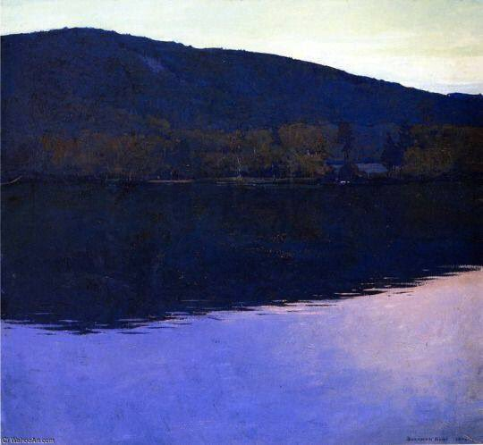 Rockwell Kent (1882–1971), Dublin Pond. https://t.co/k9PNth1jDz