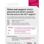 Wed love to see a couple more writers at our #CBR arts forum on 24 Feb https://t.co/tNAxq5sDIr @PPDaley @actwriters https://t.co/v1RrgVnBzI