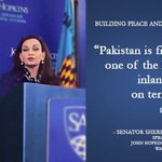 #Pakistan is fighting one of the largest inland wars on terror, alone: Senator @SherryRehman https://t.co/RgqxNKnZKb https://t.co/7lKC5VhpNL