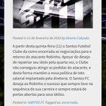 Dia D para Robinho. Santos desiste do atleta e caminho fica livre para o @atletico. #Itatiaia https://t.co/TlTJIowMLe