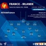 #XVdeFrance Découvrez la composition déquipe pour le match face à lIrlande! #soutienslexv #FRAIRL https://t.co/ipLa8dVZvc