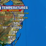 What a chilly morning! Right now, temperatures are in the upper 40s & lower 50s. @wsvn https://t.co/P3NonEovNL