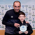 Young George with his Everton goal of the month award. ???????? https://t.co/TE0TYEhmya