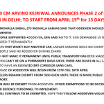 MUST READ DELHI CM @ArvindKejriwal ANNOUNCES PHASE 2 of ODD EVEN IN DELHI; TO START FROM APRIL 15th for 15 DAYS RT https://t.co/Jl8AeOX4XJ
