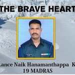 Lance Naik Hanumanthappa Koppad passes away. Source AGDPI - Indian Army fb. #Hanumanthappa @thesoftcopy #iijnm https://t.co/JAnuLWVAVd