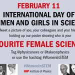 Tweet us with a photo telling us who your favourite #WomenInSTEM using our poster: https://t.co/LR5JCHZUiJ https://t.co/p7EKQbFLuL