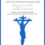 VIA CRUCIS DE LA MISERICORDIA POR LOS CRISTIANOS PERSEGUIDOS mañana por las calles de #Alicante @semanasantaalc https://t.co/JvQo8uOBhx
