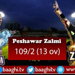 Peshawar Zalmi:109/2 (13 ov). For live streaming and updates Visit https://t.co/L8IKLqd843 https://t.co/3jneQHD7Z6 https://t.co/TIPUTX0R1L