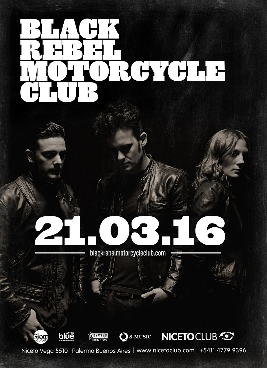 Black Rebel Motorcycle Club will be playing at the Niceto Club in Buenos Aires on 3/21. https://t.co/hlysxhvA3A