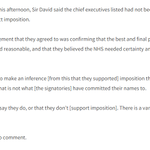 Sir David Dalton has told HSJ none of the 19 other CEOs were being asked to agree to imposing #juniorcontract https://t.co/nfzZVRyuoo