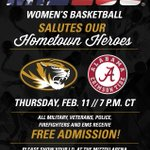 TONIGHT is Hometown Heroes Night - ALL military, veterans, police, firefighters & EMS FREE + 3 guests! #MizzouMade https://t.co/fjgqBQwHXS