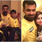 Hafeez with family after winning the first PSL man of the match award! #RiseZalmiRise https://t.co/EMXOdYQgnI