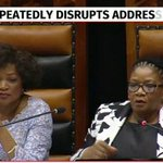 Malema says speaker Thandi Modise is out of order for calling on MPs to leave the house. #Sona2016 https://t.co/jUpcsbevRV