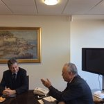 Productive meeting with Dr. Hans-Rudolf #Hodel, Ambassador of #Switzerland in #Greece #cooperation #refugeescrisis https://t.co/kYOIjqgKbY