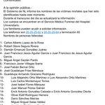 Lista de 20 de los 52 reos muertos identificados hasta el momento #TopoChico | https://t.co/X0C2GOqbhi https://t.co/RLmBmcmj51