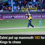 Cameos from all-rounders Shahid Afridi and Darren Sammy drive Zalmi to a big total. https://t.co/EewmF5Bhof https://t.co/XmluwnGy1n