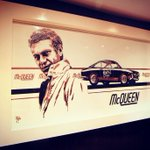 The King of Cool proudly on display.   #stevemcqueen https://t.co/6BLCfVLphY