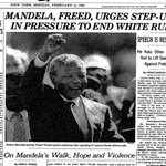 Nelson Mandela is freed from prison, this day in 1990. https://t.co/5et82wPZ17 https://t.co/3ZQ4C1AZqO