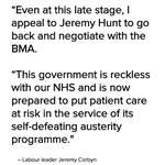 "Jeremy Corbyn has called the imposition of a contract on junior doctors ""provocative and damaging"". https://t.co/fKSAb9sSZF"