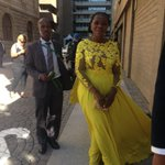 LOL! Shes even posing like a movie star! RT @rahimaessop: #SONA2016 Thuli Madonsela arrives https://t.co/TjIfMRu36K