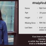 She is missing since yesterday. Pls help spread the word around Delhi. #HelpFindDipti https://t.co/jKMwXOUCwt