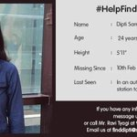 Please RT #HelpFindDipti https://t.co/mBk7iprox7
