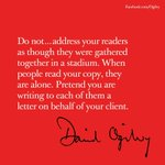 How to engage your audience #DavidOgilvy #tbt https://t.co/qvLJh42KVb