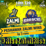 And #PeshawarZalmi takes their 3rd win of #HBLPSL! #RiseZalmiRise #HBLPSL #AbKhelKeDikha https://t.co/17T6SBqNKC