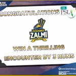 Congratulations @PeshawarZalmi On Winning a Thrilling Encounter By 3 Runs #KarachiKings #KarachiWillRiseAgain https://t.co/R8mcjvEhUE