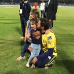 Shahid Afridi Celebrating Victory with his daughters !! #RiseZalmiRise https://t.co/OzYF0ozSsf