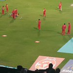 Islamabad United warming up to take on Quetta Gladiators. #HBLPSL #PSLT20 https://t.co/K0CGDM18sP