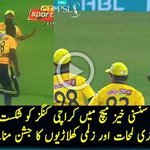 #PeshawarZalmi winning Moments - A close match with #KarachiKings https://t.co/oLpvoDPeiA #PSLT20 https://t.co/FEyDILOroS
