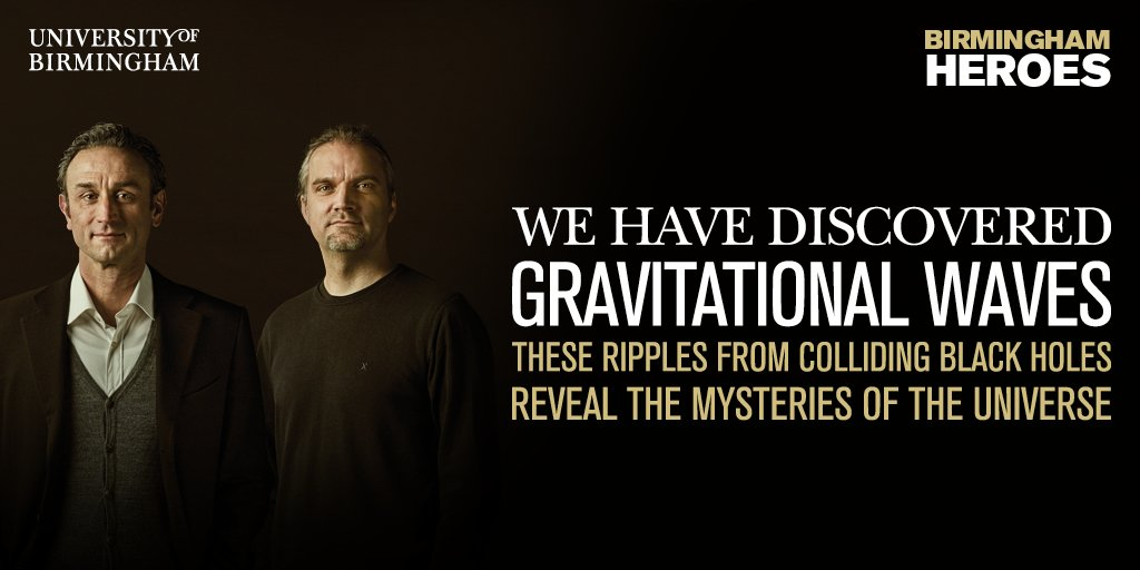 We've done it! #Gravitationalwaves detected by our experts; we enter a new era of astronomy https://t.co/y7SyA9Lr9z https://t.co/wiqjiOpG7A
