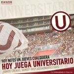 Hoy no es un jueves cualquiera, #HoyJuegaUniversitario 👏 ⚽ @Universitario vs Juan Aurich ⌚ 8:00pm 📍Estadio Nacional https://t.co/lXDbi07o6A