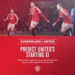 Who will start for #mufc at Sunderland on Saturday? Make your prediction: https://t.co/Oq5GepQMpq https://t.co/REPvOB8l74