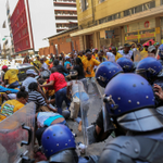 Police use stun grenades as ANC allegedly attack EFF with planks near Parliament https://t.co/KPevdCuuP8 https://t.co/dcMYcgJjEZ