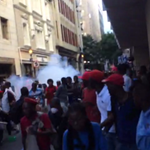 WATCH: Riot police fire stun grenades at protesting EFF members near Parliament - https://t.co/uQ1O9ARgs2 https://t.co/6CrWloo9A1