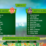 .@TeamQuetta won the toss and will bowl first! Lineups #QGvIU https://t.co/ULNzYgDxHP