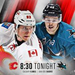 GAME DAY! The #Flames are looking for their 3rd straight win when they face the #SJSharks ~ https://t.co/3XItLPocOt https://t.co/6cp9KCRC8j