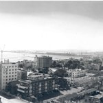 View from downtown looking southwest toward the Port of Long Beach on Nov. 6, 1942. #ThrowbackThursday https://t.co/ZRwoF3Aotr