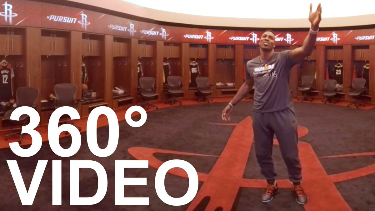 Join @DwightHoward on an exclusive 360° tour of the @HoustonRockets new locker room! https://t.co/pPqbPI4jIk #MH360 https://t.co/1RBB0oR60A