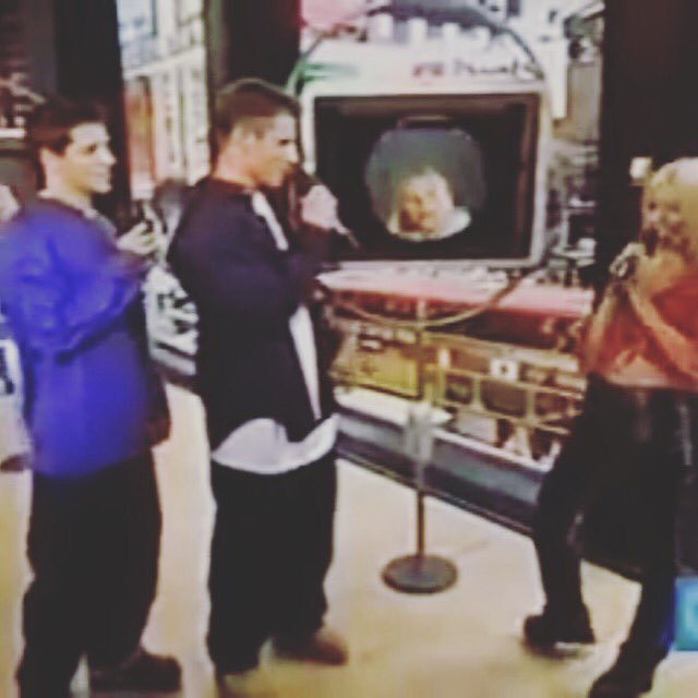 #tbt that time @nicklachey and I interviewed @xtina on #trl #totalrequestlive I was nervous! https://t.co/ytmWOKL5aY