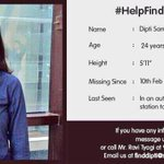 @snapdeal employee missing since 10th Feb. Kindly help & spread the word. https://t.co/Ud77SNv0Uw