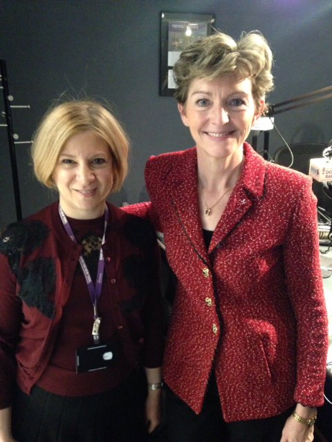 Thrilled to have #MayoClinic's Dr. @SharonneHayes (R) w/ Dr. Nieca Goldberg to talk #women & #Heartdisease @siriusxm https://t.co/U8pFdTyFlG